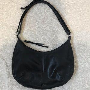 Black Tignanello Leather Single Strap Hobo Bag